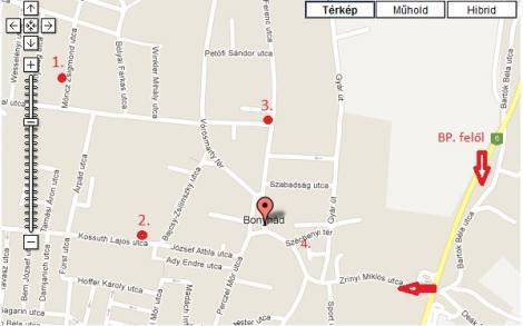 bonyhád térkép Térkép bonyhád térkép